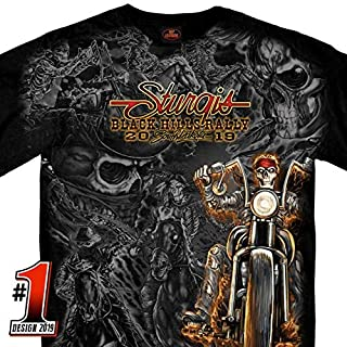 Official 2019 Sturgis Motorcycle Rally #1 Design Wild West T-Shirt (BLACK Extra Extra Extra Large)