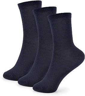Calcetines para niña, color negro, azul marino y gris, 9 pares