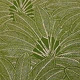 Stoff Meterware Baumwolle grün Natur Palme Palmenblätter