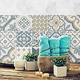 (24 Piezas) Pegatinas para Azulejos tamaño 10x10cm PS00086 Adhesivo de Vinilo Decorativo para Azulejos de baño y Cocina
