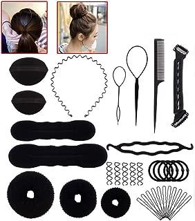 15 Pcs Hair Styling Accessories Kit for Hair Style, Buns Maker Hair Braids Tool Black Hair Twist Wedding Tools DIY Hair Styling Accessory for Girls Women