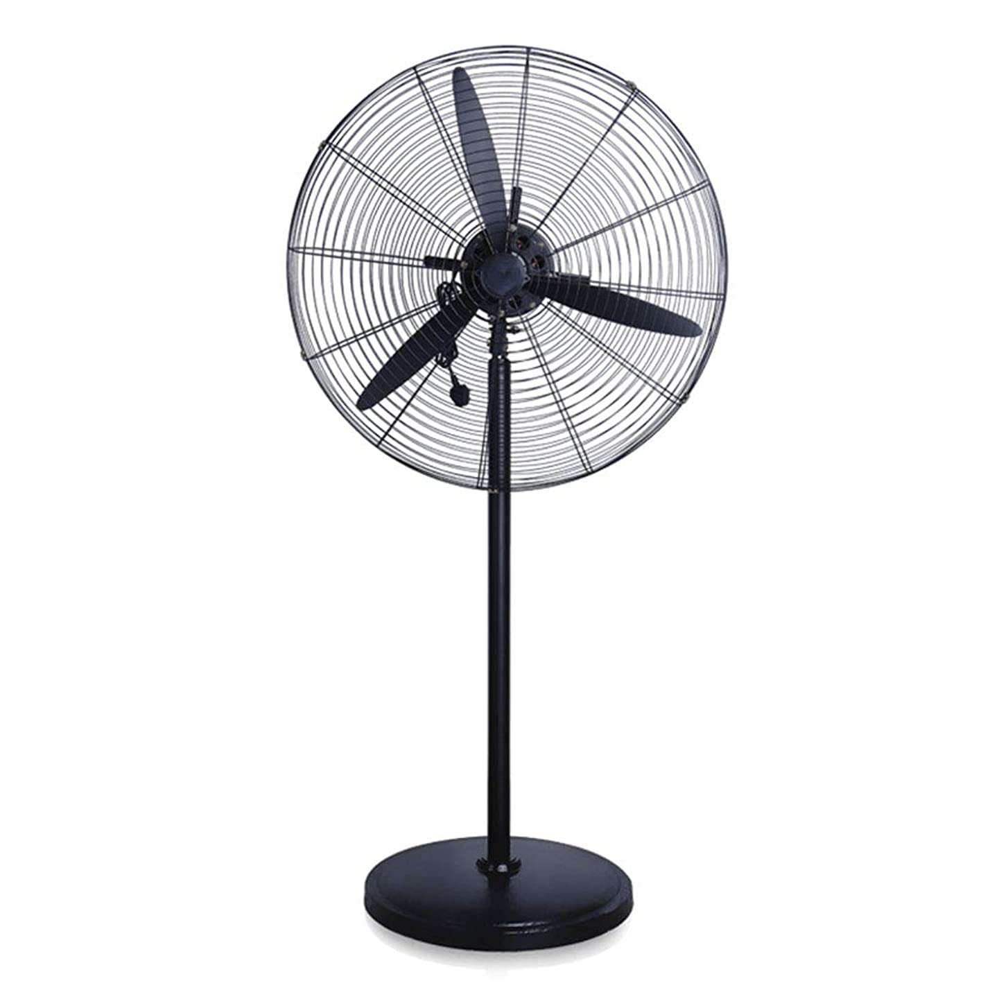 Industrial Horn Fan Stand Fan Strong Industrial Fan 3 Speed High Power Mechanical Oscillating Floor Fan Commercial Pivoting Fan Head Silent Simple and Easy to Assemble 110V/60Hz