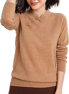 Suéter Lana para Mujer Camisa Elegante Clásico Jerséis Sudaderas Manga Larga de Otoño E Invierno