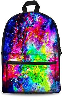 Fresh wild simple fashion Fashion Women Galaxy Backpack School Canvas Bookbags for Kids,Colour Name:galaxy-7 (Color : Gala...