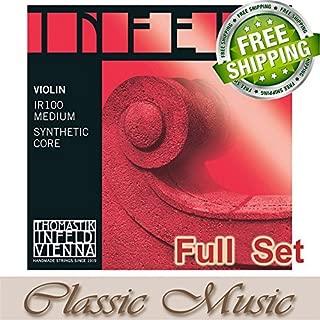Classic Music Thomastik Infeld-Red (IR100) Violin Strings Full Set 4/4 Ball End