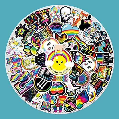 Color Series Personalidad Graffiti Pegatina Equipaje Scooter Coche Portátil Pegatinas Decorativas 100 Hojas