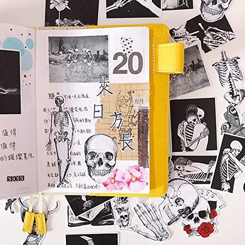 BLOUR 23 Piezas Pegatinas Creativas de Amor de Calavera/Pegatinas de álbum de Recortes/Pegatina Decorativa/álbumes de Fotos artesanales de Bricolaje