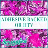 PINK TREE Camo Pattern in Hunter Camouflage Heat Transfer or Adhesive Vinyl CHOOSE YOUR SIZE!