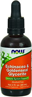 NOW Supplements, Echinacea & Goldenseal Glycerite with Dropper, Immune System Support*, 2-Ounce