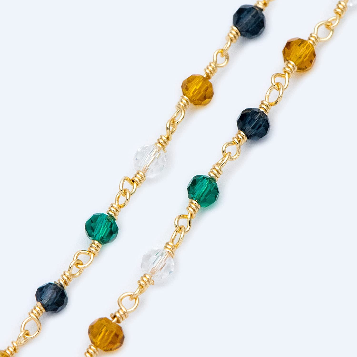 FC-22233 DIY-Jewelry Glass OFFicial store Rondelle Bead 18K Pl Max 64% OFF Gold 3.5mm Chain