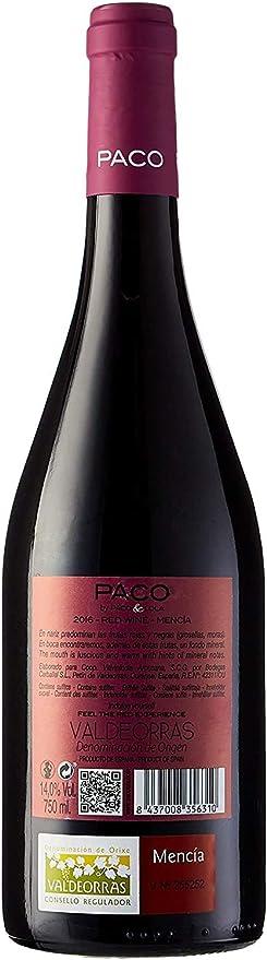 Paco & Lola Mencia, Vino Tinto - 750ml