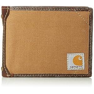 Carhartt メンズキャンバス地財布 取り外し可能なパスケース付き US サイズ: One Size カラー: ブラウン
