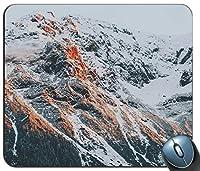 Rocky Mountainの写真パーソナライズされた長方形のマウスパッドファッション、印刷された滑り止めゴム快適なカスタマイズされたコンピューターマウスパッドファッションマウスマットマウスパッドファッション