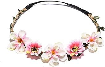 Rose Flower Crown Bride Wreath Wedding Garland Adjustable Cerchietti Capelli Beach Wianek Kwiatowy Boho Hair Accessories,FD0107-B,Adjustable 52-58cm