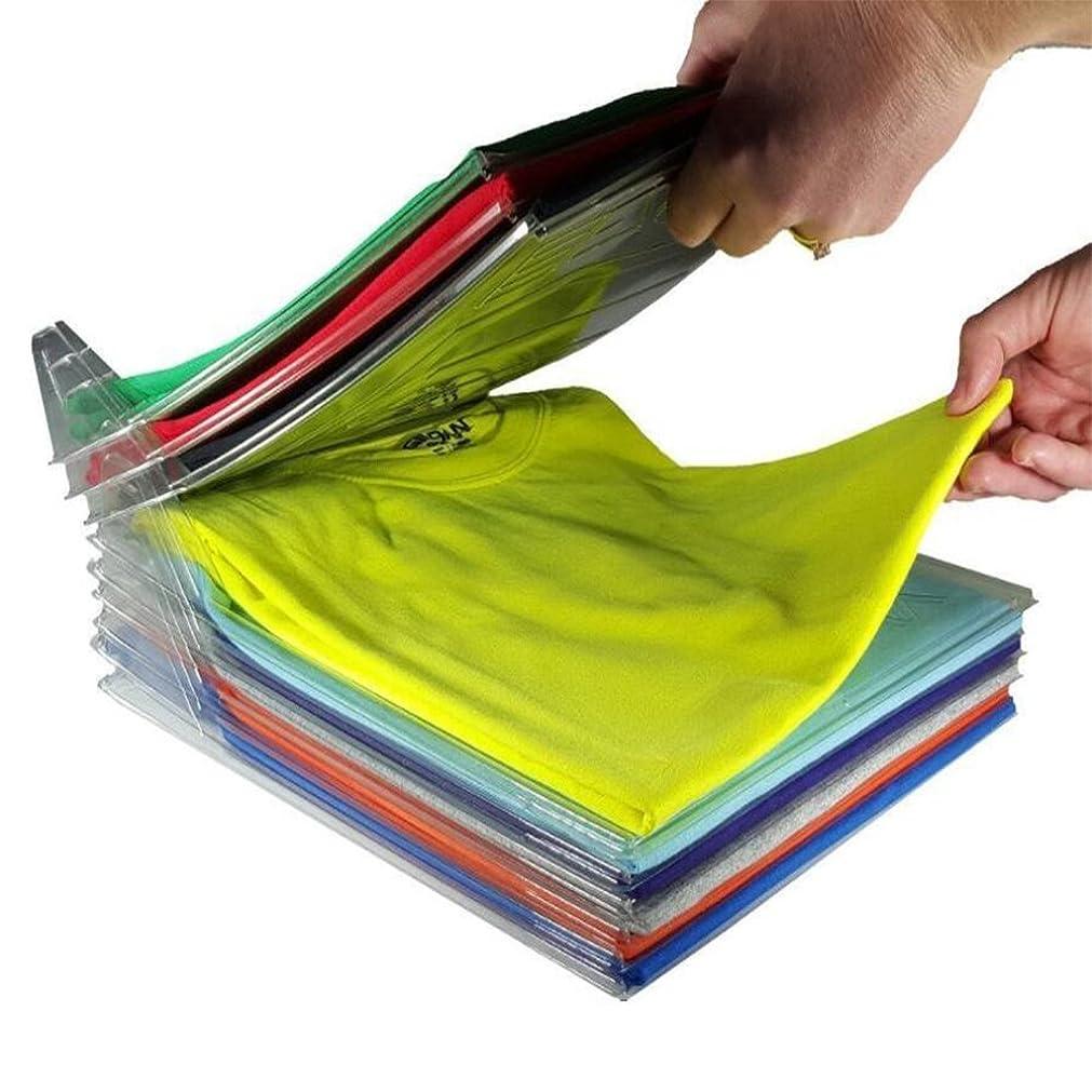 一緒に上昇むしゃむしゃ1stモール 整理整頓、形が崩さない、折りたたみ洋服収納ボード 衣類 収納 棚 ケース 仕切り 10枚組 ST-EZSTAX