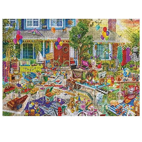 Aimee Stewart Puzzles Buffalo Yard Venta 300 piezas rompecabezas de madera para adultos y adolescentes, juguete regalo