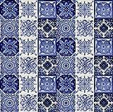 Cerames azulejos decorativos de colores de la pared Tono | azulejos cocina ceramica, para cuarto de baño y cocina, 10x10 cm, 30 piezas por paquete