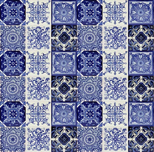 Cerames Tono - Originale 30 bunte fliesen aus Mexiko, handbemalt, für Mosaik, je ca. 10x10cm für die Küche oder Badezimmer Dekorative Fliesen.
