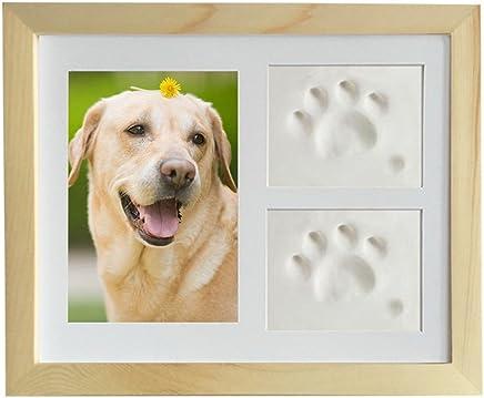 JunBo Marco de Fotos para Perros y Gatos Marco de Fotos para Mascota con Arcillas para