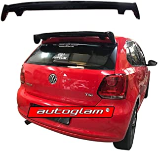Autoglam Roof Spoiler compatible for Volkswagen Polo 2010-19 Models, Color - Black, Latest Style, Drilling Required