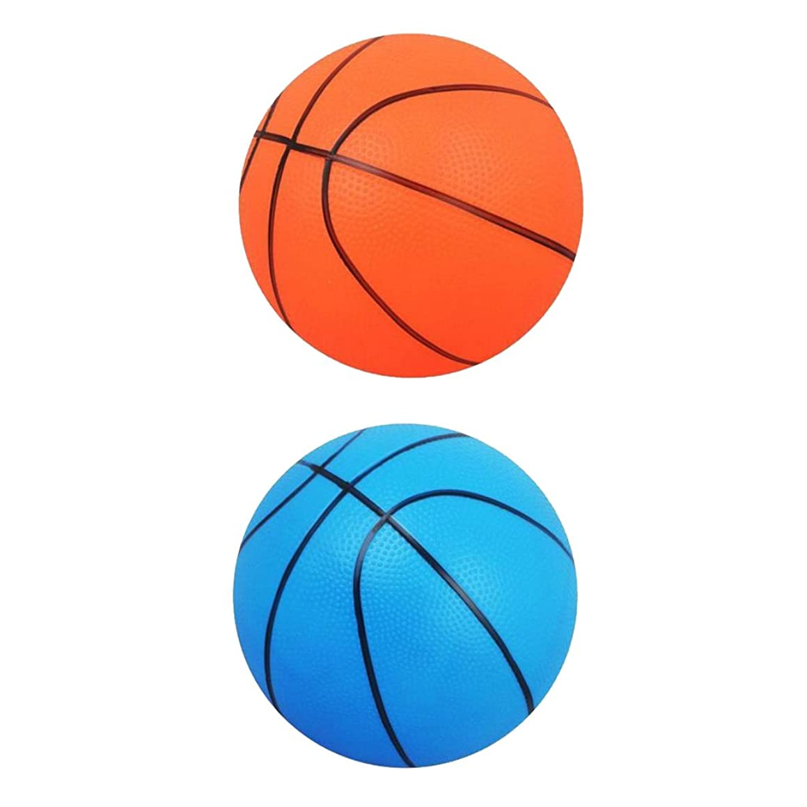 Baoblaze 2pcs Kids Toy Gift Mini Basketball Pet Dog Toy Ball Team Ball Game Sports