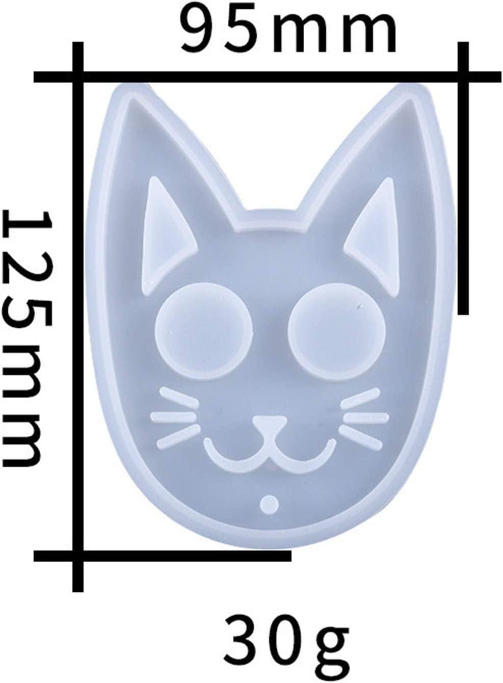 2020NEW Shiny Glossy Cat Keychain Mold,S-e-lf-D-e-fense Cat Keychain Mold,DIY Handmade Charms,Crystal Epoxy Resin Mold,Jewellery Casting Silicone Molds,Polymer Clay Crafts Making Tools Fashion white