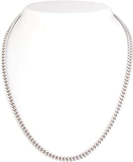 Sterling Silver Diamond-Cut Miami Cuban Link Chain 5.5 mm Solid 925 Italy