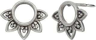 Jewelry Sterling Silver Balinese Filigree Circle Stud Earrings