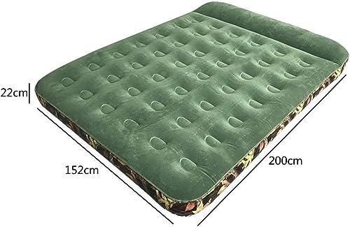 MU Portable Matelas à Air Flocage épaissir Touriste Lit Ménage Double Lit Fold Lit Extérieur Déjeuner Pause Air Lit avec Pompe à Air