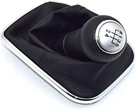 Palanca de Cambio 23mm 5/6 Coche de la Velocidad del Cambio de Engranaje pomo de la Palanca de Arranque Shifter Gaitor para Volkswagen VW Golf 4 1999-2004 IV MK4 GTI R32 Jetta Bora MT