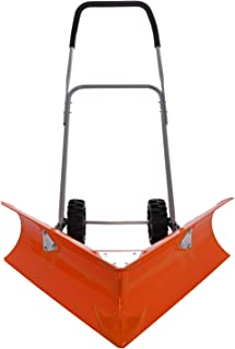 Ivation Dual Angle Snow Pusher – Manual Push Plow for Walkways, Sidewalks, Stoops, Decks, Patios & More - Patented Design