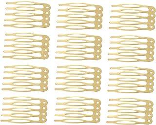 40pcs 4 Farben Metall Side Combs Sidecomb Haarspangen DIY Haarschmuck Schleier