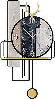 HAZYJT Horloge Murale Muette Minimaliste Muet Métal Horloge Murale Quartz Bureau Hôtel Salon Décoration De La Maison