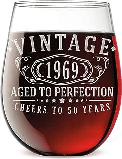 : Cadeaux 50 ans Verres à vin Verrerie