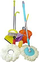 Skoolzy Kids Cleaning Set of Real Working Tools (House Pretend Play Toddler Toys for 3 Year olds +), Montessori Materials for Girls, Boys - Bonus Spin Mop & Non Toxic Recipes eBook
