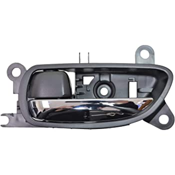 PT Auto Warehouse AC-2601MA-FP Chrome Lever with Black Housing Front Left//Right Pair Interior Inner Inside Door Handle