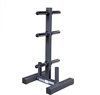 Body-Solid Olympic Plate Tree and Bar Holder (Renewed)