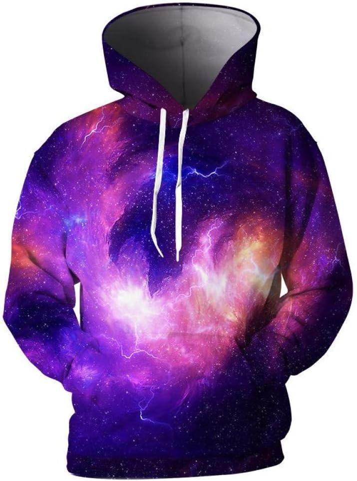 PU Printemps et automne 3D hommes capuche hommes manteau cool Galaxy Nebula 3D imprimer hommes pulls à capuche 3D pull hommes hoodies,*** L M