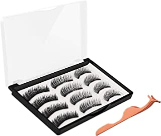 Magnetic Eyelashes, JDO Upgraded Magnetic Lashes(12PCS), Reusable Handmade False Eyelashes No Irritation No Allergy 3 Styles Eyelashes with Applicator