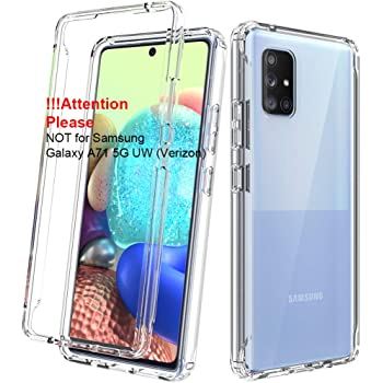 Dahkoiz Case for Samsung Galaxy A71 5G Case [Not for A71 5G UW from Verizon], See-Through Clear Crystal TPU Bumper Cover Slim Shockproof Protective Phone Case for Samsung Galaxy A71 5G, Clear