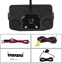 $29 » Qiilu 3 in 1 Car Backup Camera Reversing Video Rearview Camera with Backup Radar System Detector and Parking Sensor, Water...