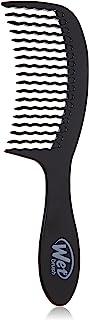 قلم مو مرطوب موی اصلی Detangler Wave Too Design Brush برس با برس فوق العاده نرم Intelliflex ، شانه رنگ مو مو سفره برای همه نوع مو و شکست کمتر (سیاه)