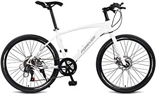 Bdclr Beginners Flat Handle Seat Height Adjustable Fashion 7-Speed Road Racing Bike