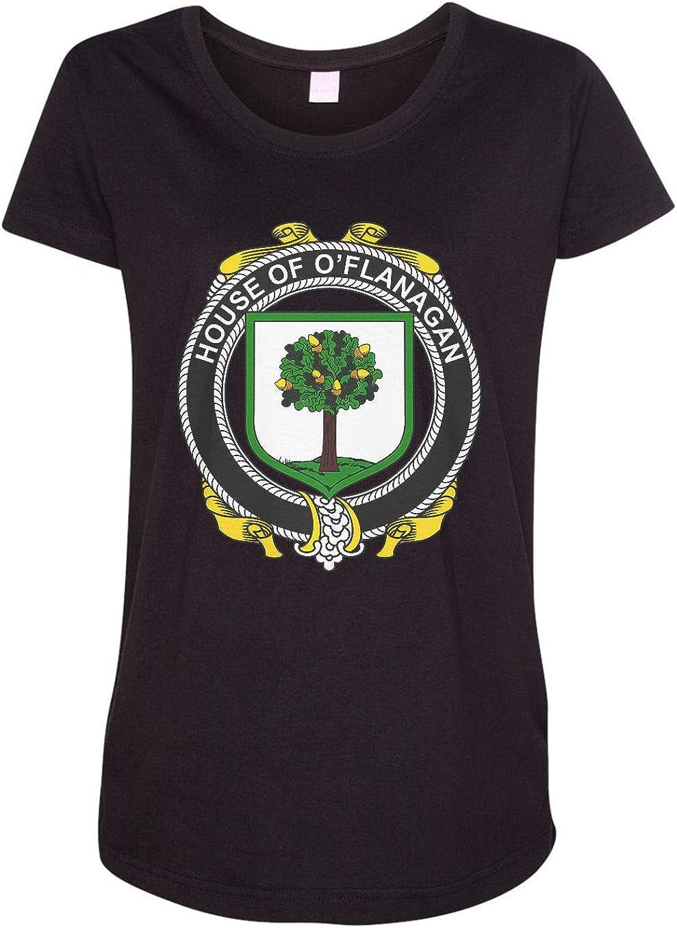 HARD EDGE DESIGN Women's Irish House Heraldry O'Flanagan T-Shirt