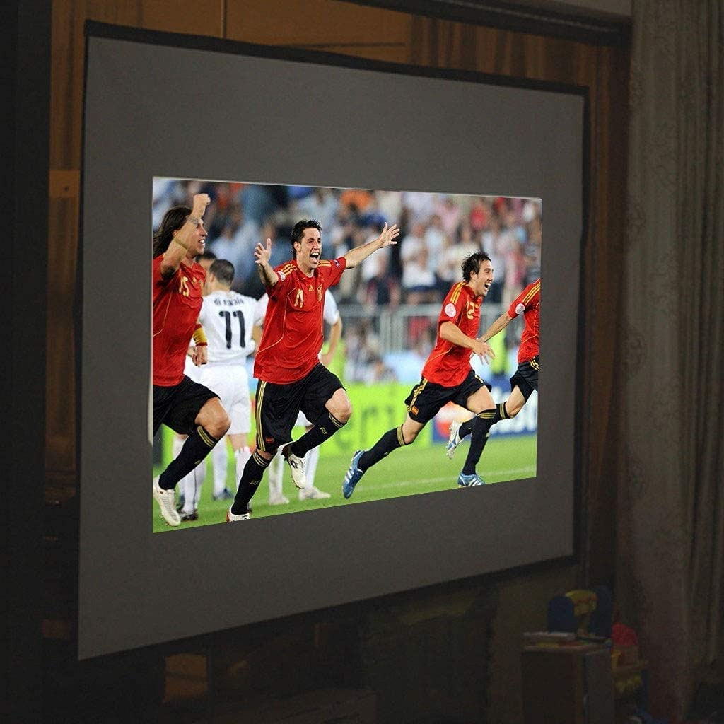 HGSDKECFS Portable Projection Screen 100 Inch 16:9 Portable Projection Screen HD White Portable Fold Fabric Projection Screen for Home HD Projector