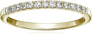 Vir Jewels 1/5 cttw Pave Diamond Wedding Band in 14k White or Yellow Gold
