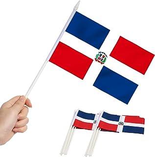 """Anley - Bandera en miniatura de República Dominicana de 5"""" x 8"""" Mini banderas dominicanas resistentes a la decoloración y ..."""