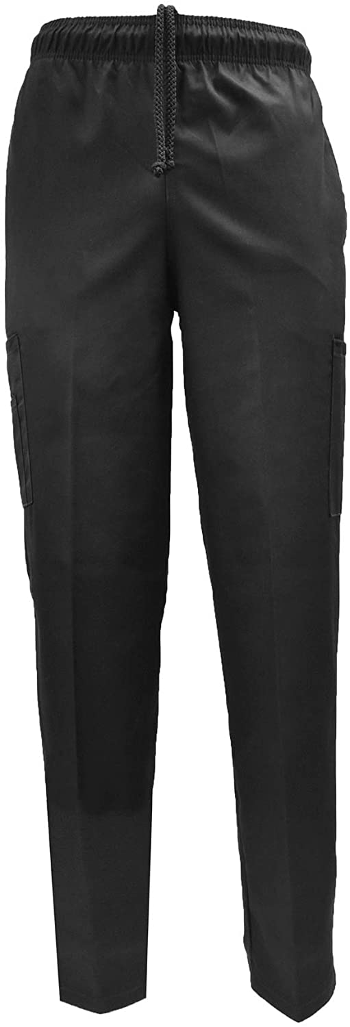 Natural Uniforms Classic It is very popular Baggy 6 Kitchen Pants Chef Pocket Black Milwaukee Mall