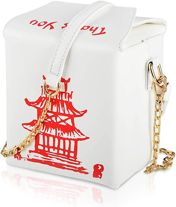 1950s Handbags, Purses, and Evening Bag Styles Fashion Crossbody Shoulder Bag i5 Chinese Takeout Box Purse with Comfortable Chain Strap $26.99 AT vintagedancer.com