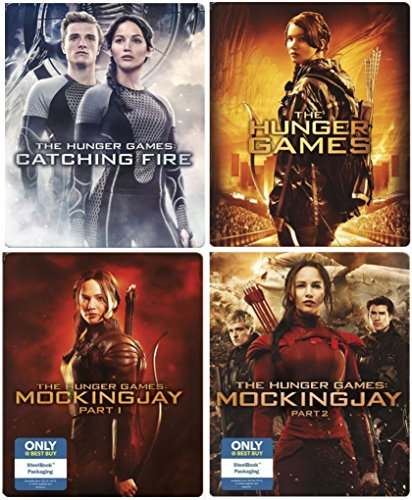 Hunger Games Steelbook Edition Complete Collection & The Hunger Games Blu Ray Catching Fire / Mockingjay / Mockingjay